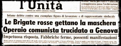 L'omicidio di Guido Rossa, 40 anni fa
