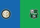 Inter-Sassuolo in streaming e in diretta TV