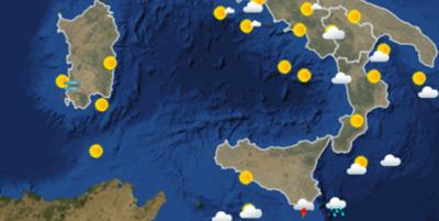 Le previsioni meteo per sabato 12 gennaio