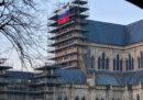 Qualcuno ha esposto una bandiera russa sulla cattedrale di Salisbury
