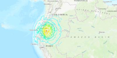 Forte scossa di terremoto 7.5 in Ecuador, avvertita anche in Colombia