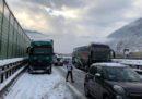 L'autostrada A22 è chiusa in direzione nord tra Chiusa e Dogana del Brennero: ci sono 12 km di coda