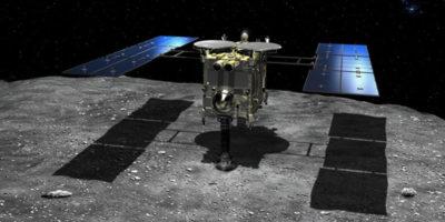 Questa sonda giapponese ha sparato contro un asteroide