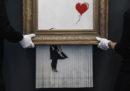 Il quadro di Banksy che si era autodistrutto verrà esposto per un mese in un museo tedesco