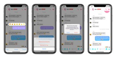 Ora su Facebook Messenger si possono cancellare i messaggi dopo averli inviati