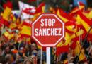 La grande manifestazione contro l'indipendenza della Catalogna, a Madrid