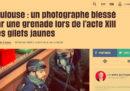 """Tre fotografi dicono di essere stati """"presi di mira"""" dalla polizia durante una protesta dei gilet gialli"""