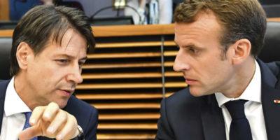 Conte dice di aver fatto tardi al bar con Macron e Merkel