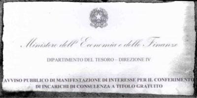 Il ministero dell'Economia ha detto che sta cercando consulenti a titolo gratuito (ma non è così strano)