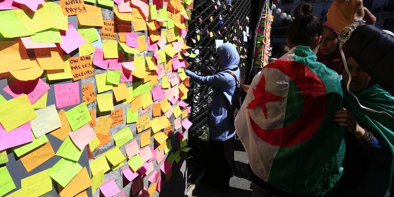 Una protesta di studenti ad Algeri il 12 marzo 2019