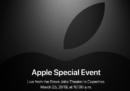 Apple ha annunciato che terrà un evento speciale il 25 marzo
