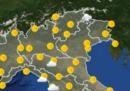 Le previsioni meteo per martedì 12 marzo