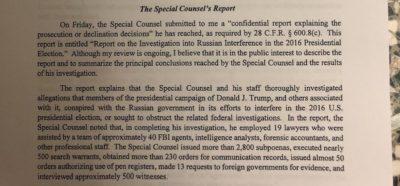 """Sappiamo qualcosa del """"rapporto Mueller"""""""