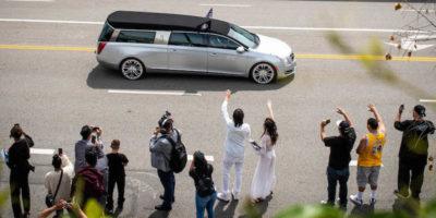 Le foto della cerimonia per Nipsey Hussle a Los Angeles