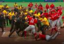 """La """"rissa tra ketchup e senape"""" in una partita di baseball"""