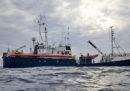 """Una donna incinta è stata fatta sbarcare dalla nave """"Alan Kurdi"""" della ong Sea Eye per motivi di salute"""