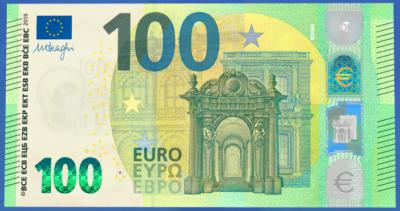 Debuttano le nuove banconote da 100 e 200 euro