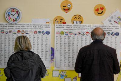 Alle 19 l'affluenza per le elezioni europee è stata del 43,63 per cento, in leggero aumento rispetto al 2014