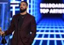 Il rapper canadese Drake è diventato l'artista più premiato di sempre dei Billboard Music Awards