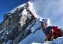 La fila sull'Everest, fotografata