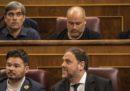 Cinque parlamentari catalani in carcere per la loro attività indipendentista hanno partecipato alla seduta inaugurale del Parlamento spagnolo