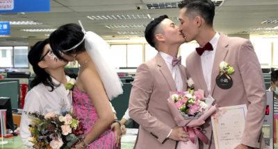 I primi matrimoni gay a Taiwan
