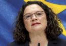 Andrea Nahles si è dimessa da presidente del Partito Socialdemocratico tedesco