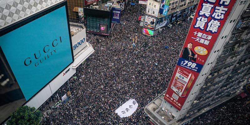 Risultati immagini per hong kong proteste