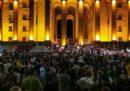 Il presidente del Parlamento della Georgia si è dimesso dopo gli scontri di giovedì sera