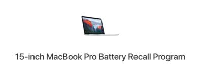 Apple ha richiamato alcuni MacBook Pro venduti tra il 2015 e il 2017 per un problema di sicurezza alla batteria