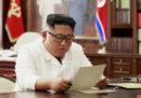 Kim Jong-un ha detto di avere ricevuto una «eccellente» lettera da Donald Trump