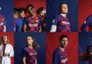 La nuova maglia a scacchi del Barcellona