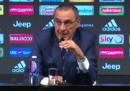 Il video della presentazione di Maurizio Sarri alla Juventus
