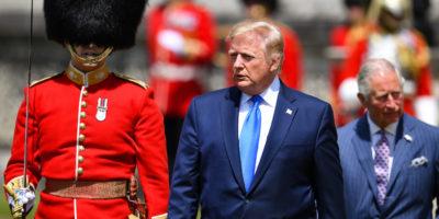 Le foto della visita di Trump nel Regno Unito