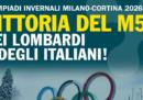Il Movimento 5 Stelle dice che l'assegnazione di Milano-Cortina 2026 è «una vittoria del M5S»
