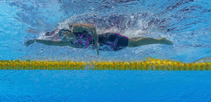 Simona Quadarella ha vinto la medaglia d'argento nella finale degli 800 stile libero ai Mondiali di nuoto