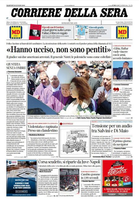 Style Corriere Della Sera Calendario Uscite.Le Prime Pagine Di Oggi Il Post