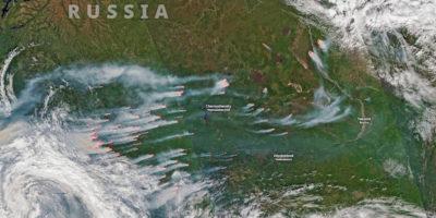 Gli incendi sull'Artico
