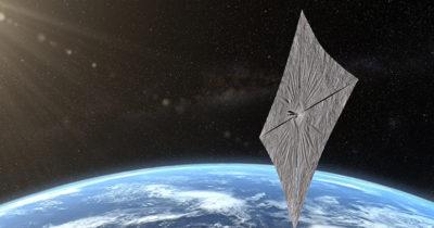 C'è una vela solare in orbita
