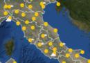 Le previsioni meteo per martedì 23 luglio