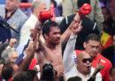Il pugile filippino Manny Pacquiao ha vinto il titolo WBA dei pesi welter, a 40 anni