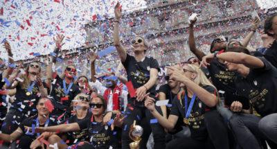 Le foto della parata per la vittoria dei Mondiali a New York