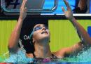 Simona Quadarella ha vinto la medaglia d'oro nei 1500 stile libero ai Mondiali di nuoto