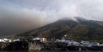 L'eruzione di mercoledì a Stromboli
