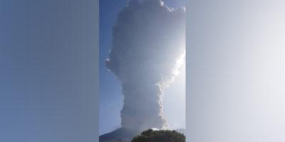 C'è stata un'eruzione vulcanica a Stromboli