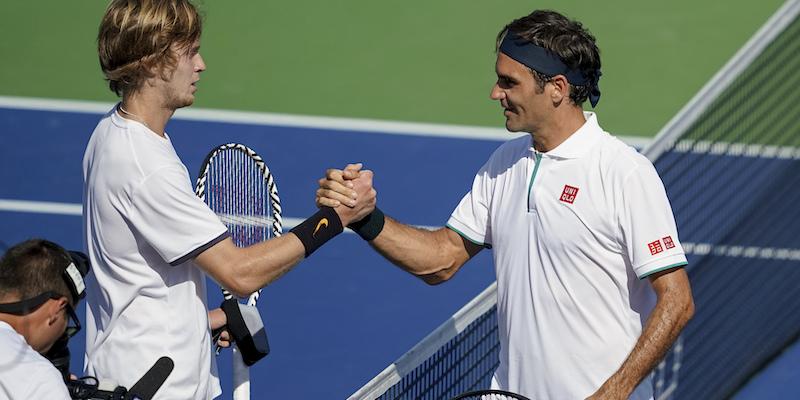 Roger Federer è stato eliminato agli ottavi del torneo di Cincinnati da Andrey Rublev