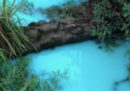 L'acqua di un piccolo fiume inglese è diventata troppo azzurra