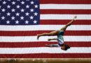 La ginnasta Simone Biles continua a fare cose che nessuno mai