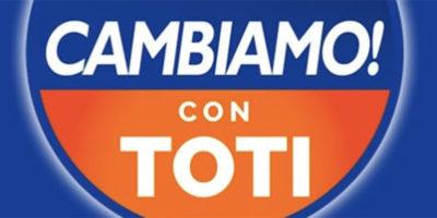"""Giovanni Toti ha presentato il simbolo di """"Cambiamo"""", il suo nuovo partito"""