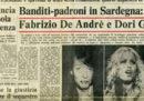 Il sequestro di Fabrizio De André e Dori Ghezzi, 40 anni fa